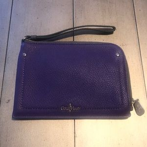 Cole Haan Purple Mini Wristlet